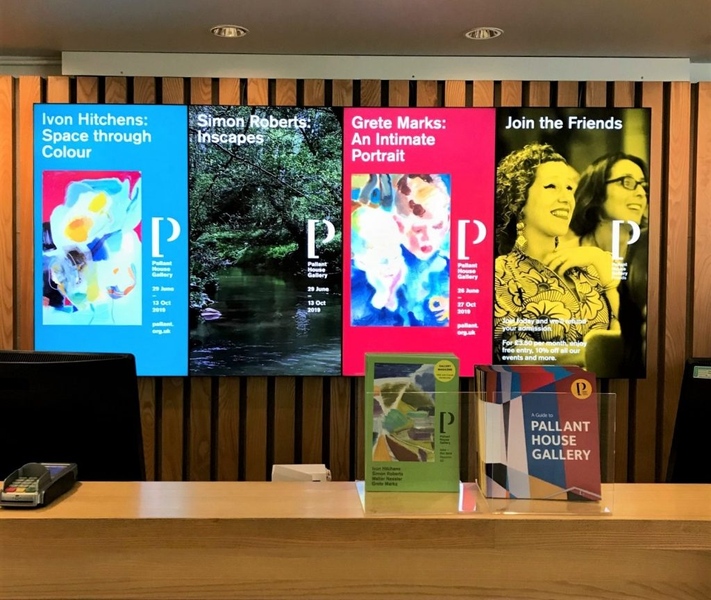 Reception Area Digitial Signage System at Pallant House